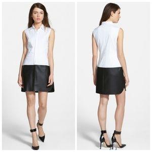 Bailey 44 Ferreri Shirt Dress Vegan Leather Trim